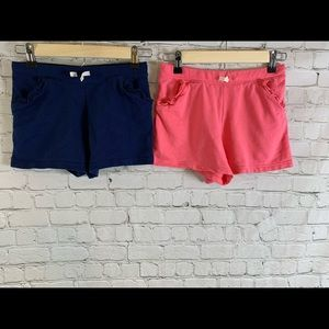 Two (2) Pair of Girls Carters Cotton Shorts Sz 12